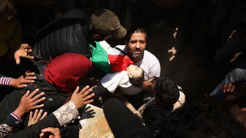 El cuerpo de Leila Anwar Ghandoor, un bebé de ocho meses que muri...