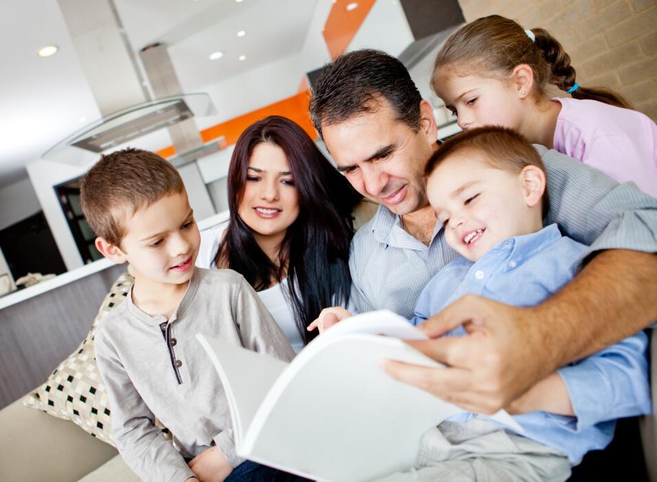 latino family reading
