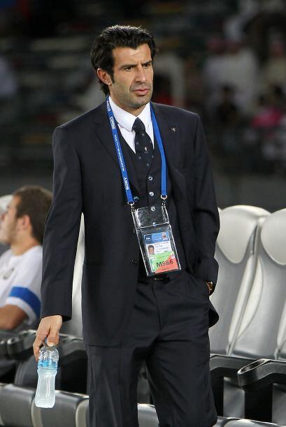 Incluso Luis Figo, quien es parte de la directiva del Inter, fue visto e...