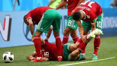Amrabat será baja de Marruecos para el duelo contra Portugal, tras sufrir una conmoción cerebral