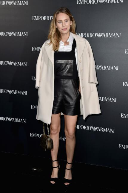 Dylan Frances Penn attends the Emporio Armani show as part of the Paris...