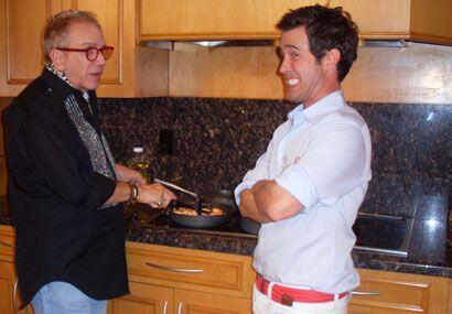 El reportero Roger Borges invitó a Osmel a la cocina de la mansi&...