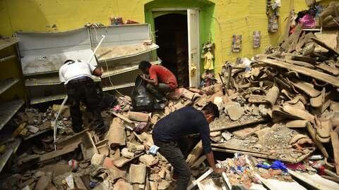 Imágenes del terremoto del 8 de septiembre de 2017 en Oaxaca, M&e...