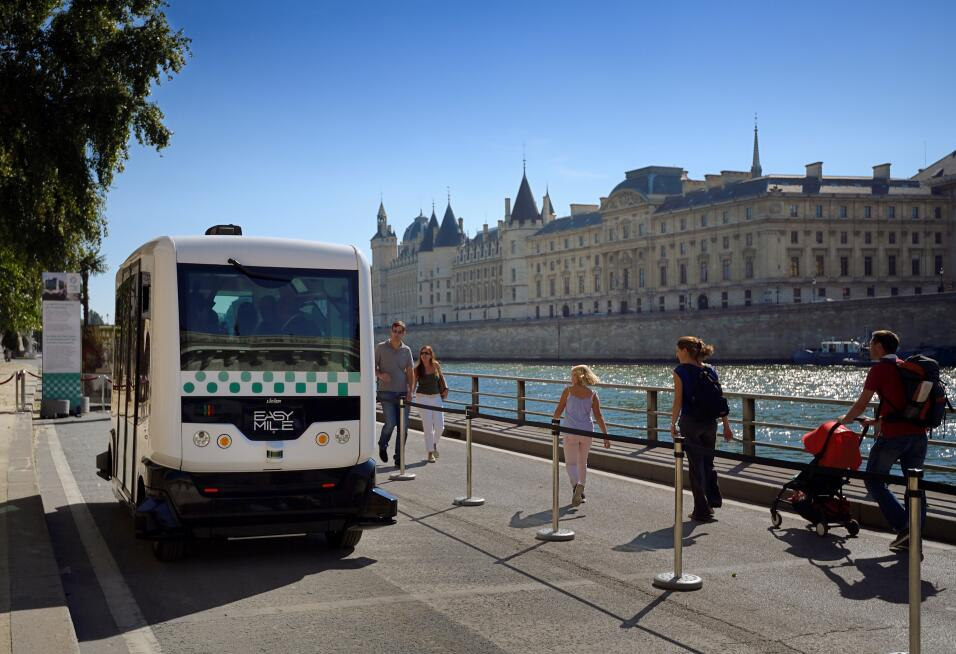 Un autobús autónomo en Francia.