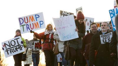 Washington DC ya está siendo escenario de protestas anti-Trump antes de...