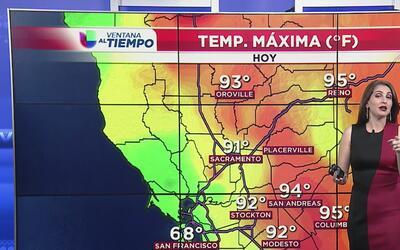 Condiciones con cielos despejados y temperaturas veraniegas en Sacramento