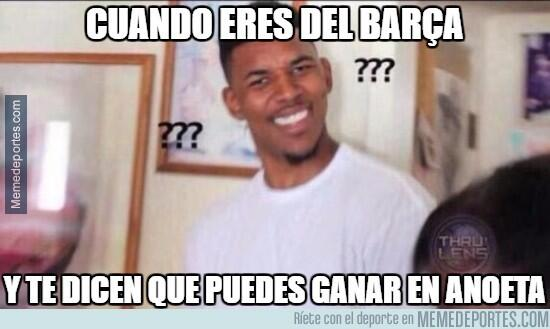Burlas por la caída del Barcelona en Anoeta y la goleada del Madrid a Eibar