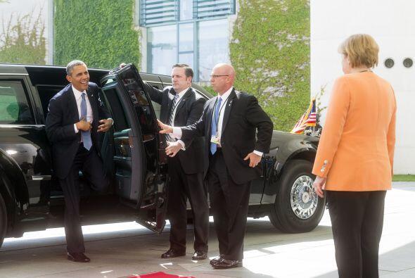 El presidente Obama, después de conversar con Joachim Gauck, se reunió c...
