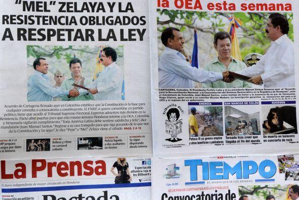 La OEA se apresta a decidir el miércoles la reincorporación de Honduras...
