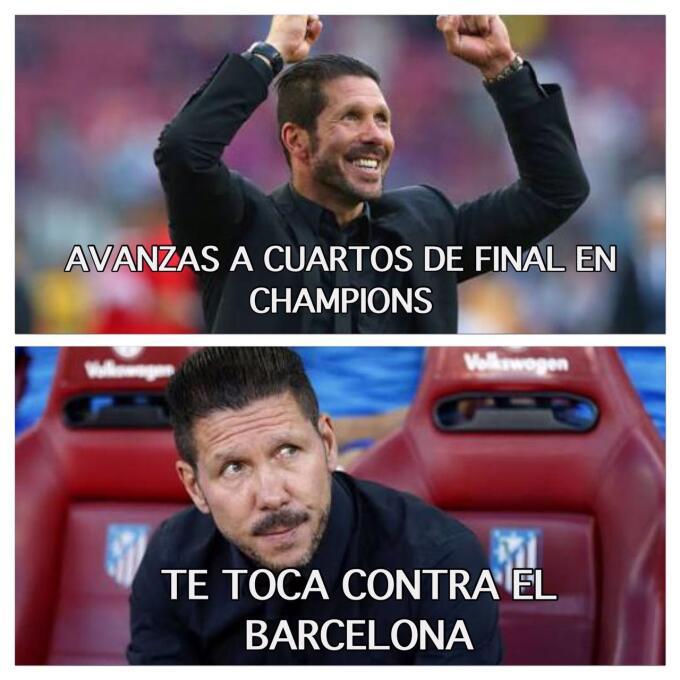La reacción del 'Cholo' Simeone cuando supo que el Barcelona es su rival.