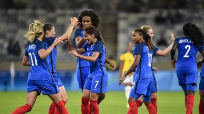 Francia superó y goleó sin problemas a Colombia en los JJOO