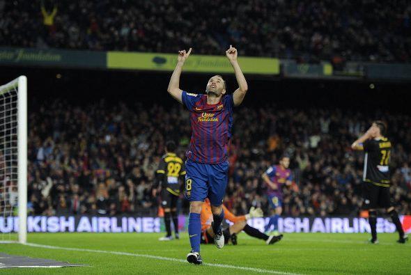 Y al final llegó el 6 a 0 convertido por Iniesta pero fue anulado por un...