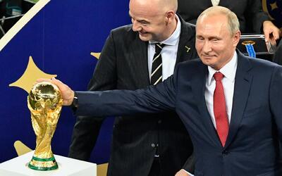 Así vivió Vládimir Putin, la final del Mundial Rusia 2018