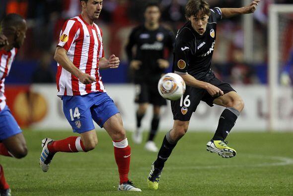 Atlético de Madrid recibió al Valencia en el Vicente Calderón en un duel...