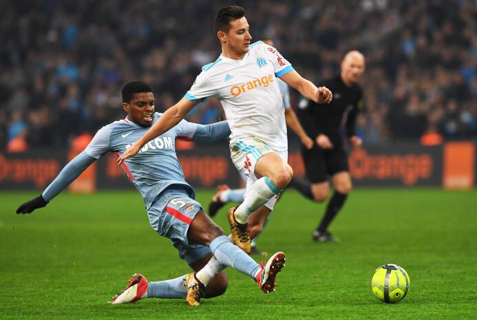 El Mónaco logró un punto en el Velodrome al empatar 2-2 con el Marsella.
