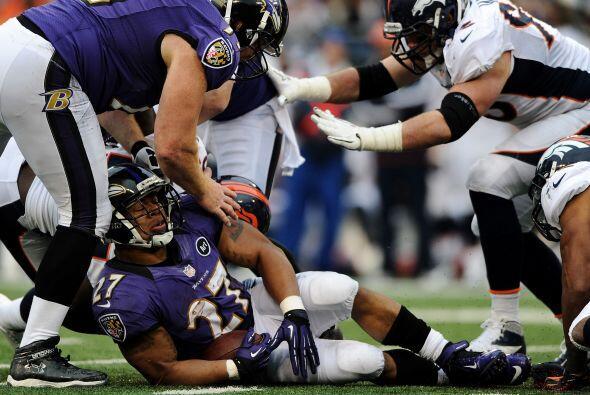 La ofensiva de Baltimore no pudo hacer mucho en la primera mitad.