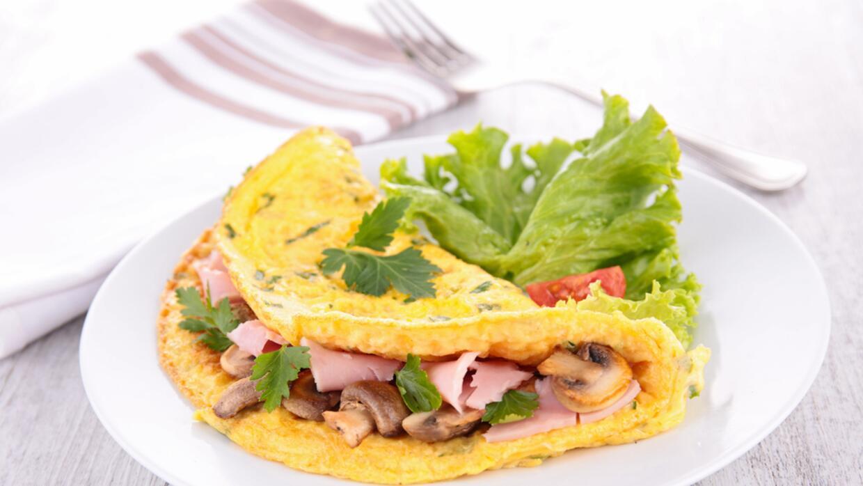 Si lo prefieres, puedes sustituir la omelette de champiñones y pa...