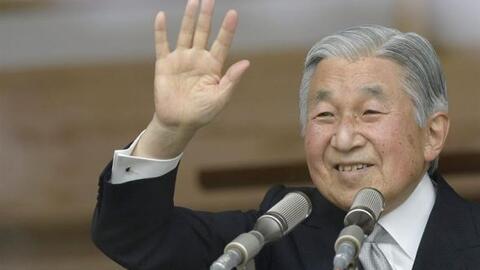 """El monarca nipón Akihito """"el único emperador reinante..."""