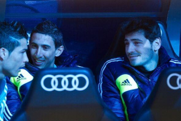 Tres titulares en el banco. Ronaldo, Di María y Casillas.