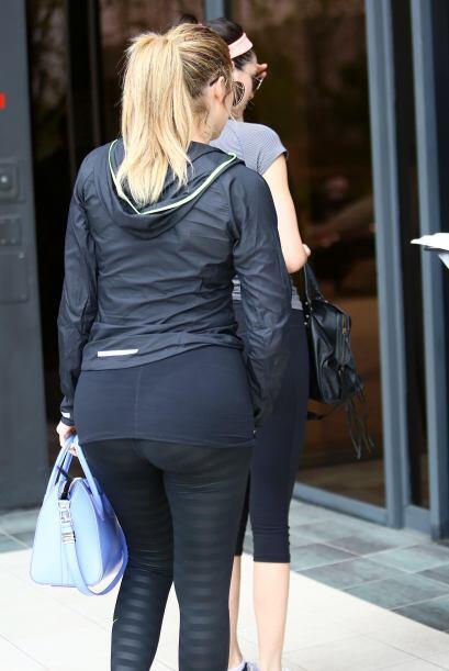 Khlóe y Kendall, fanáticas del ejercicio.