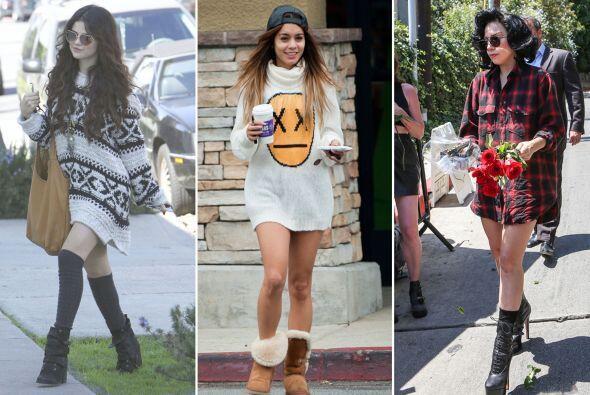 """La moda """"sin pantalones""""  que Vannesa Hudgens  y Rihanna, entre otras ce..."""