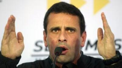 El líder opositor venezolanoHenrique Capriles.