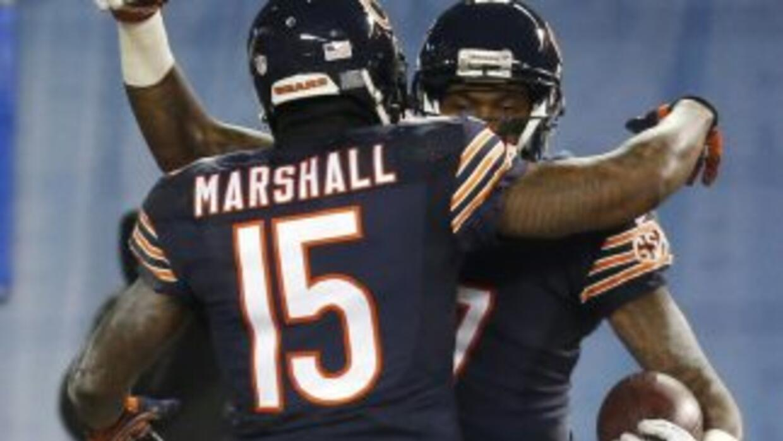 Brandon Marshall reconoce el talento de Alshon Jeffery (AP-NFL).
