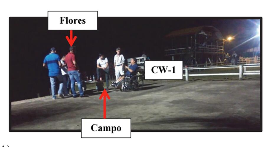 Reunión en Honduras con El Sentado (en silla de ruedas)