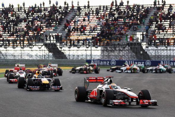 El alemán Sebastian Vettel (Red Bull), campeón mundial, ganó el Gran Pre...