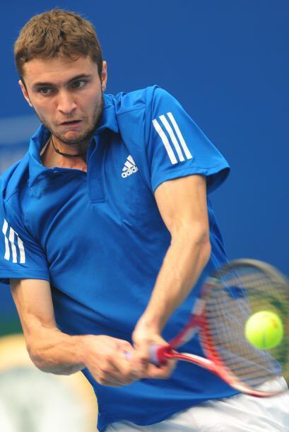 Gilles Simon fue derrotado por Novak Djokovic.