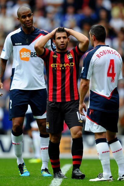 Pero en esta ocasión, a diferencia de su debut ante el Swansea, no pudo...