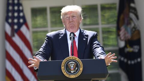 El mandatario Donald Trump hizo el anuncio en el Rose Garden de la Casa...
