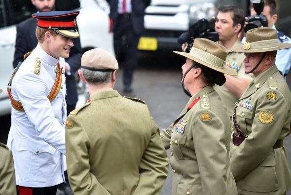 El príncipe Harry se encuentra en Australia.