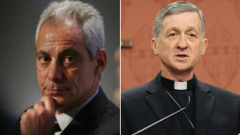 Rahm Emanuel y Blase Cupich ya mandaron mensajes de solidaridad con el p...