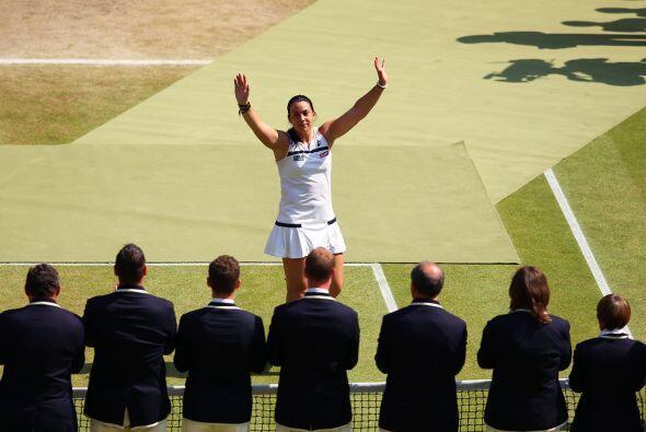 Aquí las mejores imágenes del triunfo de Marion Bartoli sobre Sabine Lis...
