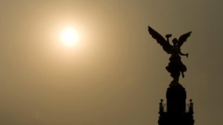 El emblemático monumento del Ángel de la Independencia, en Ciudad de Méx...