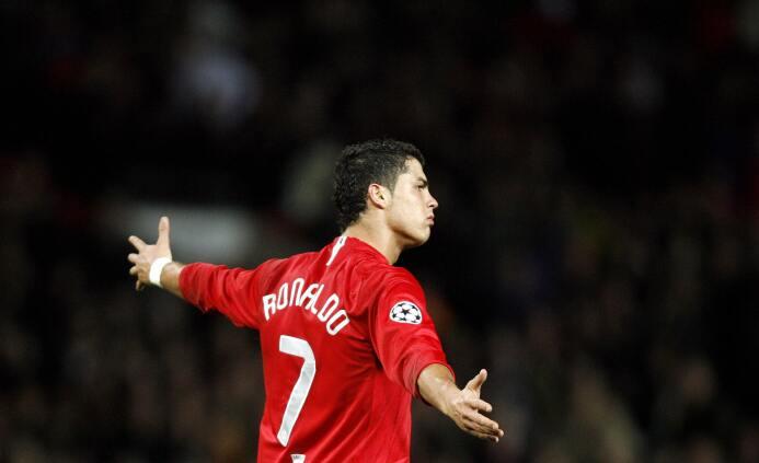 Temporada 2007/2008 - Cristiano Ronaldo (Manchester United) con 8 goles.