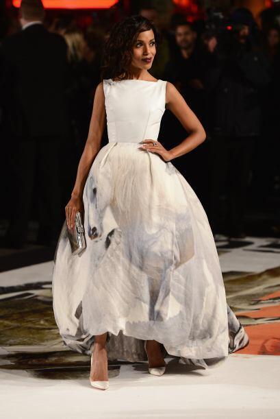 Ella supo cómo lucir este impactante vestido de Giles con un caba...