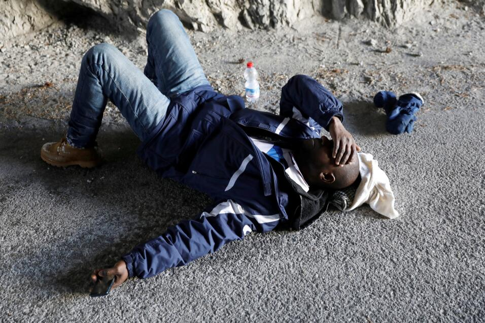 Inmigrantes en Los Alpes