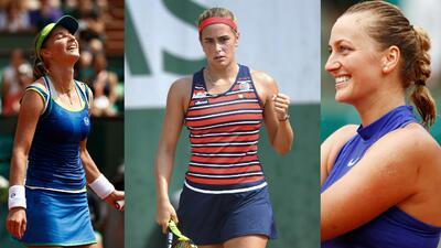 Cuerpos atléticos y rostros hermosos en el comienzo del tenis femenino en Roland Garros