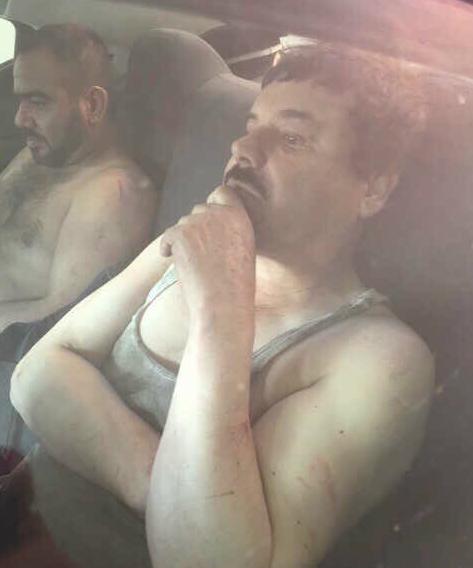 """La primera imagen de """"El Chapo"""" Guzmán difundida luego de su arresto"""