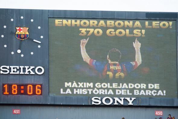 Con su triplete, 'La Pulga' llegó a la cifra de 371 goles, para ser el m...