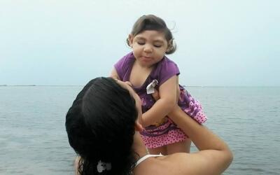 Carolina Silva tuvo a su primera hija, Maria Gabriela, a los 22 a&ntilde...
