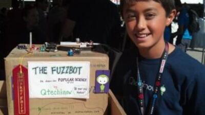 Quin Etnyre, a sus 13 años, ya es un genio de la ingeniería. (Fotografía...