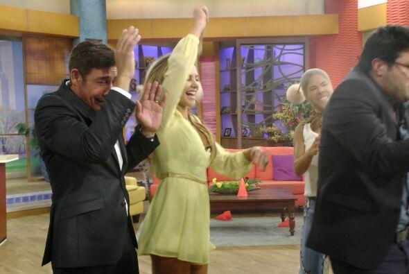 La más emocionada era Ximena, que no paró de saltar y gritar ni un segundo.
