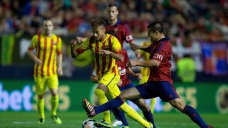 El Barcelona no pudo romper la defensa del Osasuna y se quedó con un emp...
