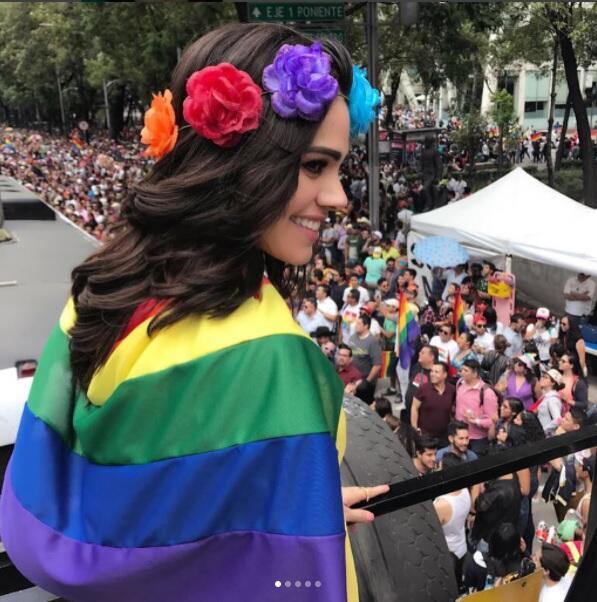 Luz Elena González en marcha gay
