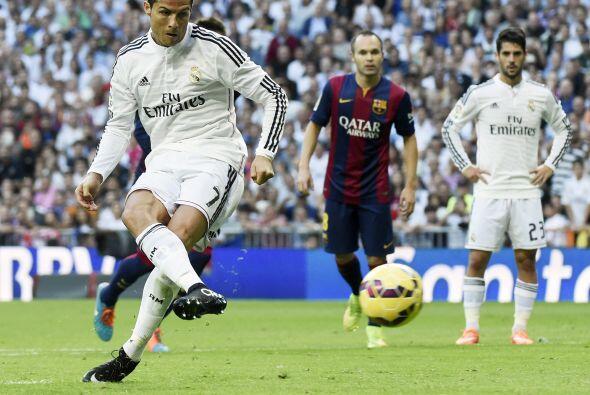 Cristiano Ronaldo cobró el penalti impecablemente para igualar el partido.