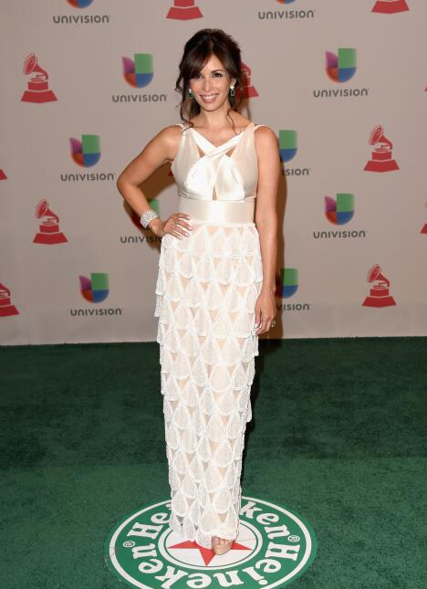 Actress Giselle Blondet attends the 15th Annual Latin GRAMMY Awards at t...