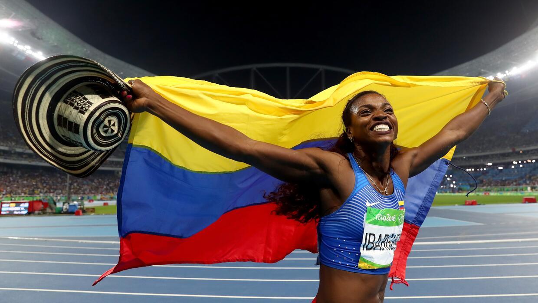 La deportista colombiana Caterine Ibargüen ganó medalla de oro en la cat...
